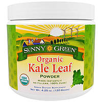 Sunny Green, Органический порошок из листьев капусты, 4.25 унции(120 г)