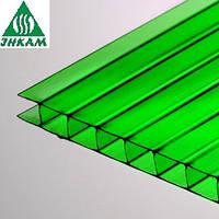 Лист сотового поликарбоната Vizor зеленый 10мм