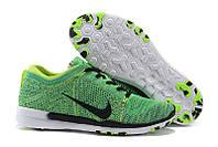 Кроссовки Nike Free TR 5 Flyknit Women s Training Shoe Green Volt Black White , фото 1