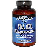 Pure Advantage, N.O. Express, Усилитель окиси азота, 180 капсул