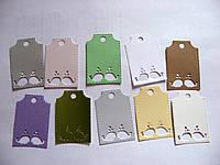 Набор бирок из картона. Киты, 39х58 мм