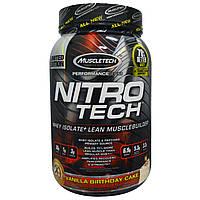 Muscletech, Nitro Tech, Vanilla Birthday Cake, 907 г (2 фунта)