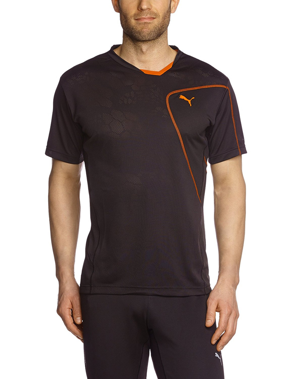 Футболка спортивная, мужская PUMA CT Tech Burn Out Men's Short-Sleeved Sports Shirt 509796 01 пума