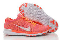 Кроссовки Nike Free 5.0 Flyknit Women Pink Orange White, фото 1