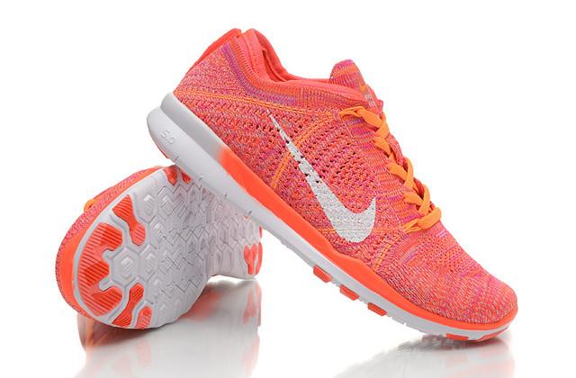 Nike Free 5.0 Flyknit Women Pink Orange White