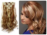 Волосы трессы на заколках ТЕРМО 7 прядей №30н613  волна