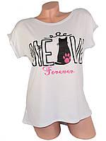 Женская футболка 03 кот белая СП