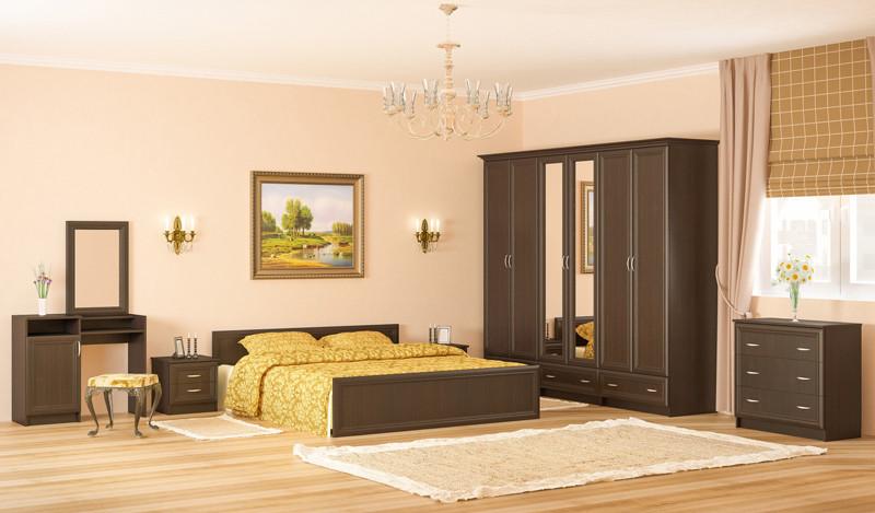 Спальный гарнитур Соната с шестидверным шкафом. Производитель Мебель-Сервис