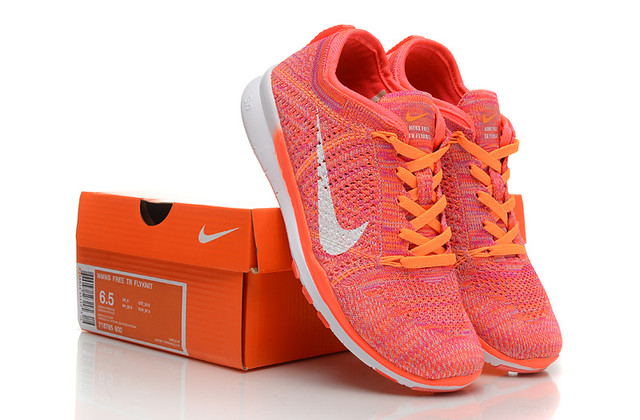 Nike Free 5.0 Flyknit Women Pink Orange White
