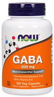 GABA 500 мг NOW, 100 капсул
