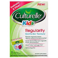Culturelle, Для детей, нормализующее средство, формула Gentle-Go, 24 пакетика по одной порции без ароматизаторов