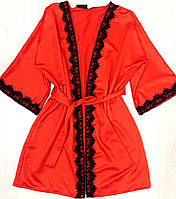 Женский  халат  с кружевом