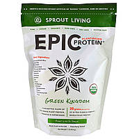Sprout Living, Epic Plant-Based Protein, Green Kingdom, 1 lb (454 g)