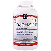 """Nordic Naturals, """"ПроДГК 1000"""", пищевая добавка с ДГК (DHA), 1000 мг, 120 мягких желатиновых капсул с жидкостью"""