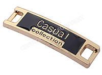"""Перетяжка на шнурок """"Casual"""", цв. золото, 49025"""