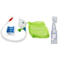 NeilMed, Naspira Plus, аспиратор для носовой и ротовой полости и ампулы с солевым раствором, для детей, 1 комплект