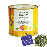 """Органический зелёный чай """"СЧАСТЬЕ"""",100г Terre d'oc"""