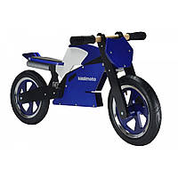 "Беговел 12"" Kiddimoto Superbike деревянный, сине-белый"