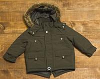 Детская демисезонная теплая куртка парка GEORGE для мальчика р.86/92