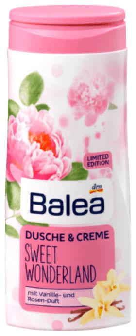 Крем-Гель для душа Balea Sweet Wonderland с ароматом розы и ванили 300мл