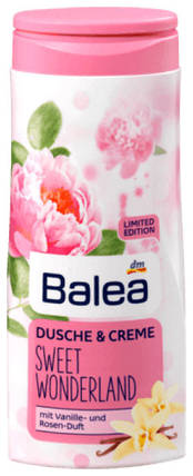 Крем-Гель для душа Balea Sweet Wonderland с ароматом розы и ванили 300мл, фото 2
