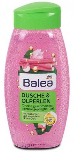 Гель для душа Balea Ölperlen c ароматом ревеня и магнолии 250мл