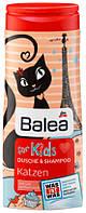 Гель для душа + шампунь Balea Katzen без слез 300мл