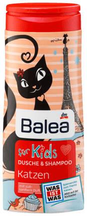 Гель для душа + шампунь Balea Katzen без слез 300мл, фото 2