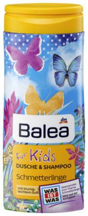 Гель для душа + шампунь Balea Schmetterlinge без слез 300мл, фото 2