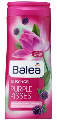 Гель для душа Balea Purple Kisses с ароматом лилии и ежевики 300мл
