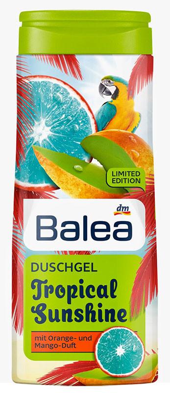 Гель для душа Balea Tropical Sunshine с ароматом манго и апельсина 300мл