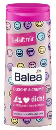 Гель для душа Balea с ароматом вишни и миндаля 2-millionen-Fan-Edition 300мл