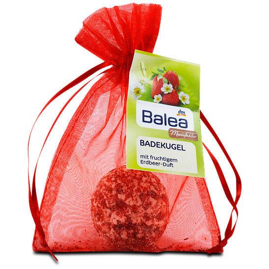 Шарики Balea для ванн с натуральным экстрактом клубники 50г