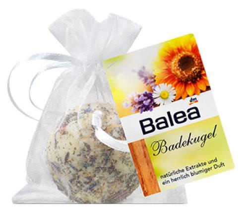 Шарики Balea для ванн с натуральным экстрактом василька, календулы, ромашки 50г, фото 2