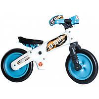Велосипед (беговел) Bellelli B-Bip обучающий 2-5лет, пластмассовый, белый с голубыми колёсами