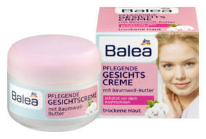 Крем для лица Balea  увлажняющий для сухой кожи с маслом хлопка 50мл, фото 2