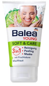 Гель для очистки лица Balea очищение, пилинг, маска 150мл