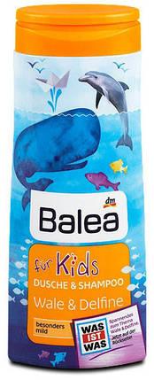 Гель для душа + шампунь Balea Wale & Delfine без слез 300мл, фото 2