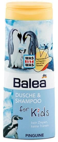 Гель для душа + шампунь Balea Пингвин без слез 300мл
