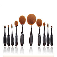 Набор кистей-щеток для макияжа 10 шт