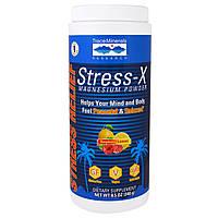 Trace Minerals Research, Стресс-X, Порошок Магния, Малина, Лимон, 8,5 унции (240 г)