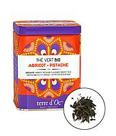 Органический зелёный чай с абрикосом и фисташкой,100г Terre d'oc