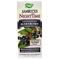 Nature's Way, Sambucus, сироп бузины для приема перед сном, 4. жидких унции (120 мл)