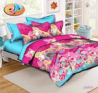 Полуторный детский комплект постельного белья Барби Модница
