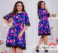 Платье принтованое Большого размера