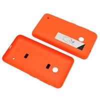 Задняя крышка Nokia Lumia 530 Orange (с боковыми кнопками)