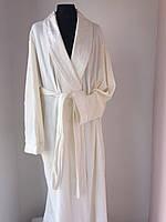 """Удлиненный  халат с шелковой отделкой  тм """"Nusa"""""""