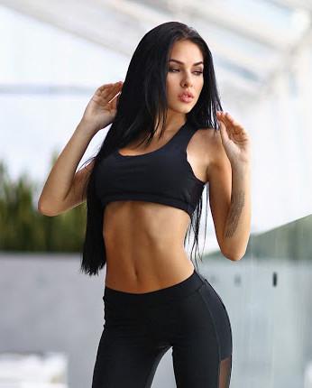 топ для фитнеса Sexy Black Net capri