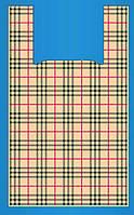 "Пакет  майка ""Burberry "" 30 x 55 см /(уп 100 шт), фото 1"