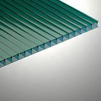Сотовый поликарбонат Polygal, зеленый, 6 мм (Россия)